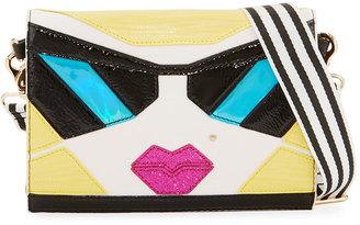 Betsey Johnson Kitsch Face Crossbody Bag, Multi $75 thestylecure.com