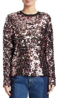 McQ Women's Keyhole Back Sequin Sweatshirt - Size 38 (2)