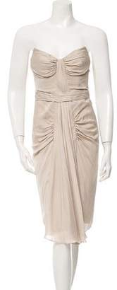 J. Mendel Strapless Midi Dress