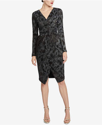 Rachel Roy Pleated Faux-Wrap Dress