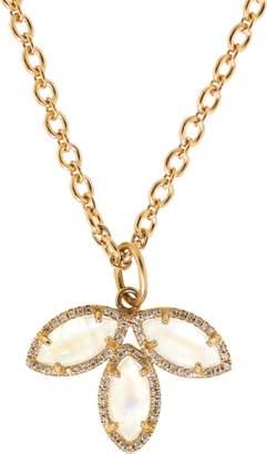 Irene Neuwirth JEWELRY Rainbow Moonstone And Diamond Charm