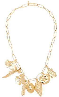 Aurelie Bidermann Aurelie Gold Plated Charm Necklace - Womens - Gold