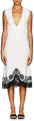 Derek Lam Women's Crepe & Guipure Lace Sheath Dress - White