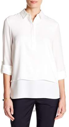 BOSS HUGO BOSS Risala Tiered Blouse $335 thestylecure.com