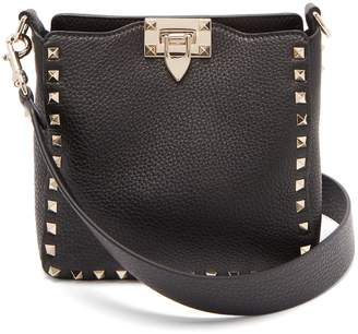 Valentino Rockstud leather mini hobo bag