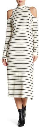 Splendid Striped Cold Shoulder Dress
