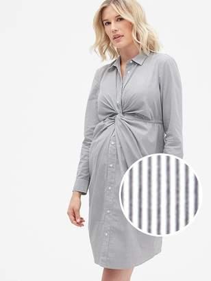 Gap Maternity Twist-Front Shirtdress in Poplin