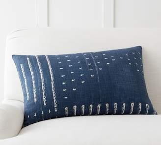 Pottery Barn Shibori Embroidered Lumbar Pillow Cover