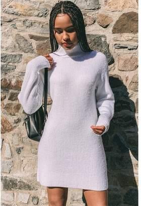 Garage Mock Neck Sweater Dress