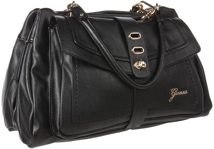 GUESS Tremont Satchel (Black) Satchel Handbags
