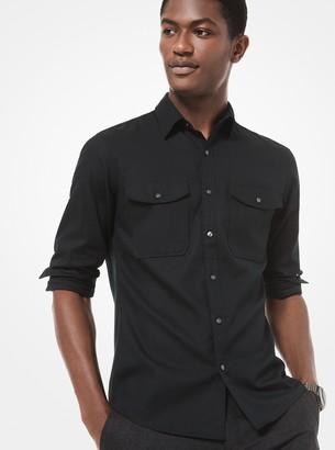 Michael Kors Slim-Fit Cotton-Rayon Utility Shirt