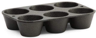 6 Impression Cast Iron Muffin Pan