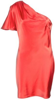 Fleur Du Mal short one-shoulder dress