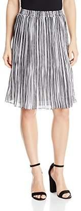 Ellen Tracy Women's Size Smocked Waist Pleated Skirt
