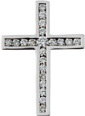 Giantti By Stefan Hafner 18k White Gold Diamond Channel Cross Pendant