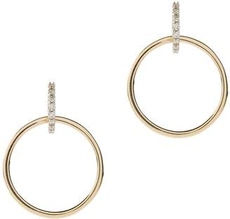 Mateo Diamond Circle Drop Earrings