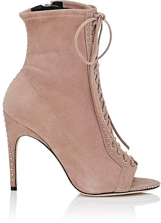 Sergio Rossi Women's Sue Studded Suede Ankle Boots