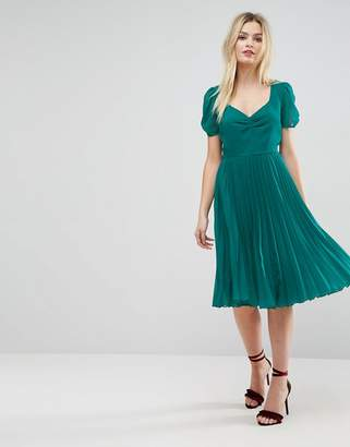 Asos Pleated Midi Dress