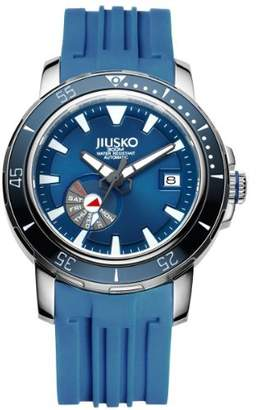 DAY Birger et Mikkelsen Jiusko Mens 24 Jewel Automatic Deep Dive Watch - 300m Scuba - Sapphire Date - Dial - Rubber Strap - 75LSB08
