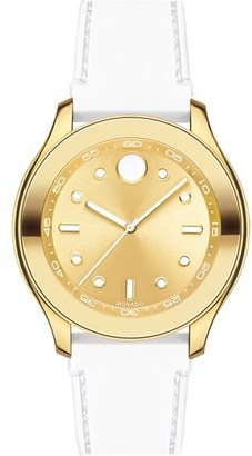 Women's Movado 'Bold' Silicone Strap Watch, 38Mm $450 thestylecure.com