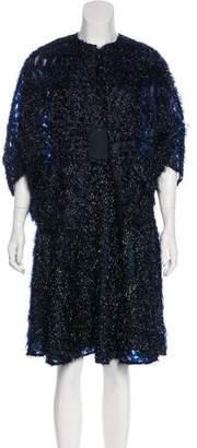 Lela Rose Fringed Fil-Coupé Dress Set w/ Tags