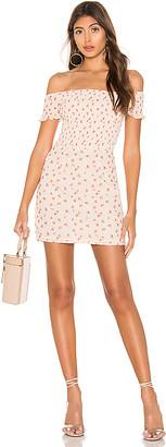 superdown Elisa Floral Smocked Mini Dress