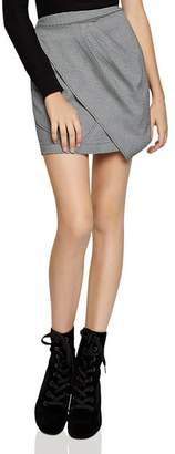 BCBGeneration Asymmetric Houndstooth Mini Skirt