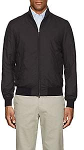 Herno MEN'S TECH-FABRIC BOMBER JACKET-BLACK SIZE S
