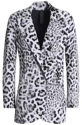 Norma Kamali Leopard-Print Neoprene Blazer