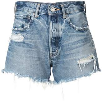 Moussy Vintage ripped denim shorts