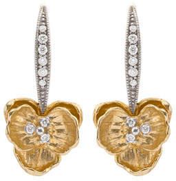 Michael Aram Orchid Diamond Drop Earrings