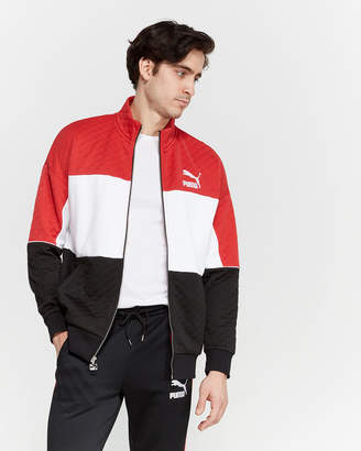 Puma Ribbon Red Quilted Retro Jacket