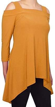 Avital Womens Cold Shoulder Trapeze Shirt
