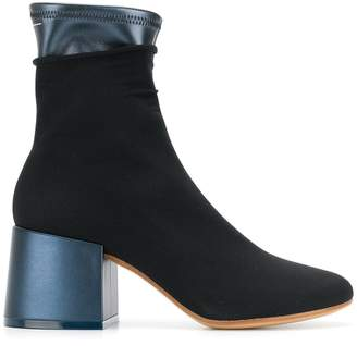 MM6 MAISON MARGIELA layered design ankle boots