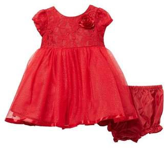 Pippa Pastourelle by and Julie Lace Bodice Ballerina Dress (Baby Girls)