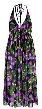 Marc Jacobs Women's Redux Grunge Plum Georgette Halter Dress