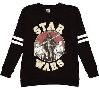 Star Wars Darth Vader, Luke Skywalker, and Princess Leia Juniors' Long Sleeve Graphic Sweatshirt