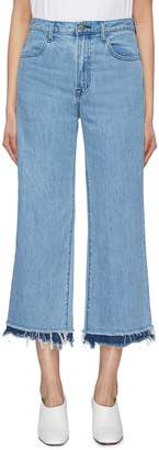 J Brand 'Joan' frayed tiered cuff denim culottes