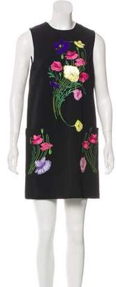 Christopher Kane Embroidered Mini Dress