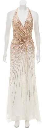 Terani Couture Embellished Halter Dress w/ Tags