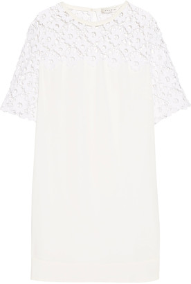 Sandro Lace-paneled crepe mini dress $410 thestylecure.com