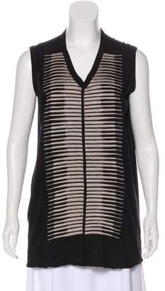 Rick Owens Lilies Sleeveless Embroidered Top