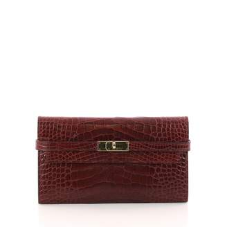 Hermes Kelly alligator wallet