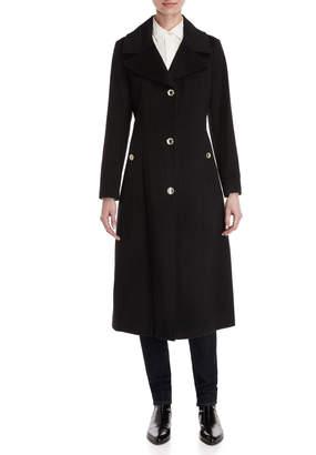 Karl Lagerfeld Paris Wool Longline Overcoat