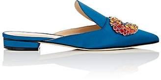 GIANNICO Women's Daphne Satin Mules - Blue