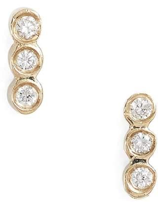 Chicco Zoe Diamond Bezel Bar Stud Earrings