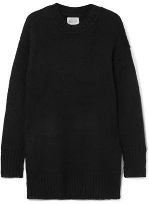 R 13 Oversized Chunky-knit Sweater - Black