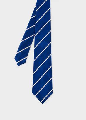 Paul Smith Men's Cobalt Blue Diagonal Stripe Silk Tie