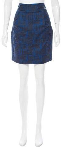 Marc by Marc Jacobs Abstract Printed Pencil Skirt
