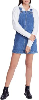 BDG Urban Outfitters Gaia Denim Pinafore Dress